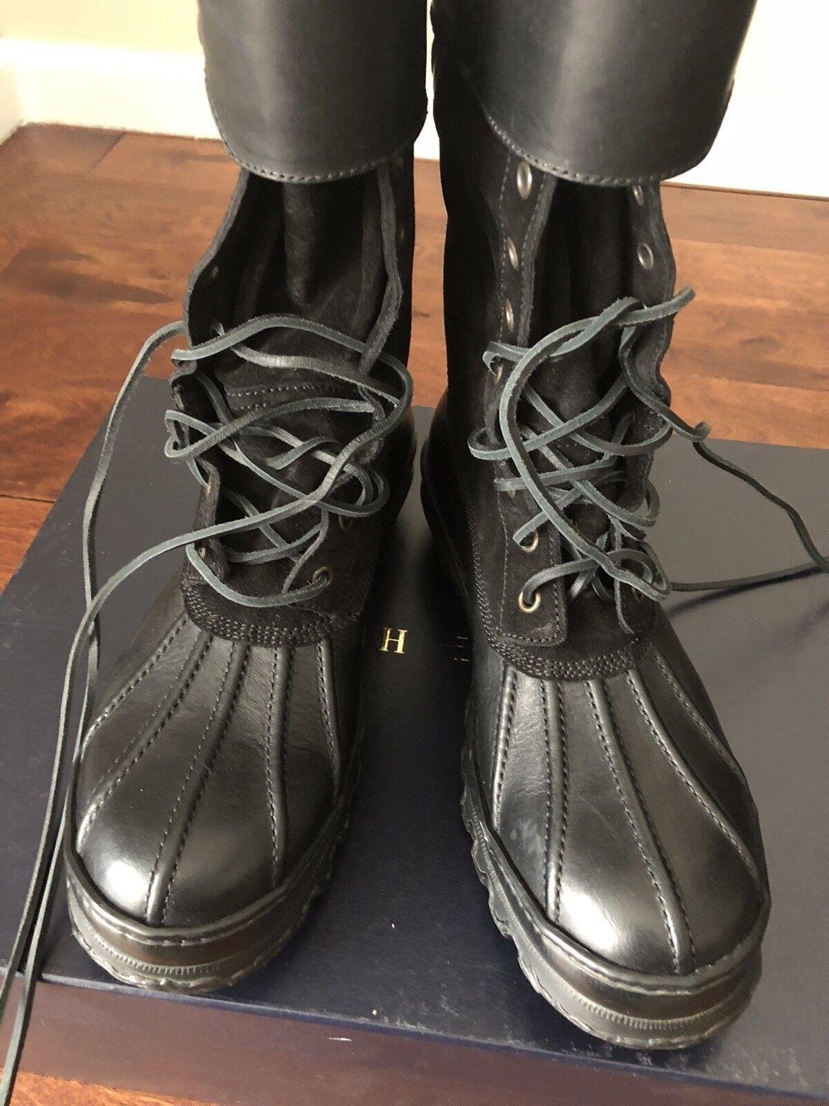 NIB  895 POLO RALPH LAUREN rotFORD schwarz Stiefel SZ SZ SZ 36.5 MADE IN ITALY 6c918a