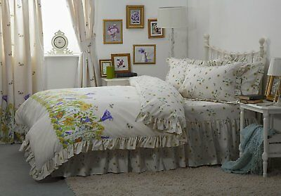 King Size 152cm x 198cm Country Diary Style Wild Rose Floral Bed Linen
