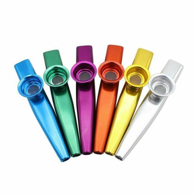 Set of 6 Colors Metal Kazoo Musical Instruments Good Companion for A Guitar Q7J8