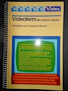 Videx-Videoterm-Owner-039-s-Reference-Manual-Apple-II-Computer-Monitor-Software-1982