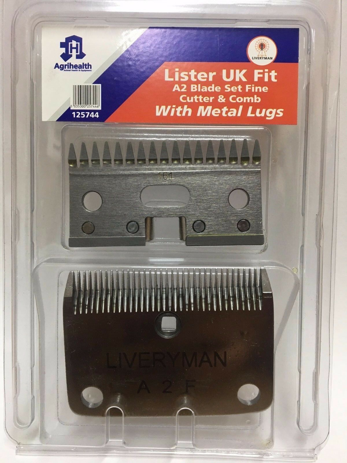 LISTER A2 Medium or Fine Clipper Blades Made by Liveryman - Star Laser Liberty