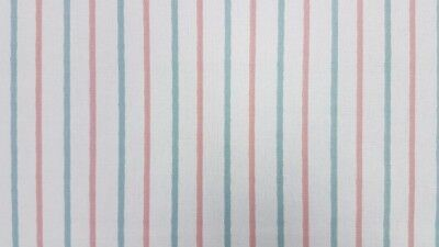 "Clarke and Clarke Walcott Stripe Pastel Curtain Craft Fabric 137cm/ 54"" Wide"