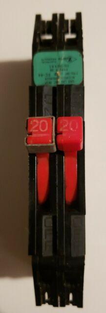 ZINSCO Thin Tandem R-38 2 Pole 20   20a 240v  Circuit Breaker  *FREE SHIPPING*