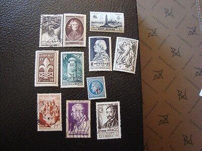 l1 Ohne RüCkgabe Frankreich Briefmarke Yvert/tellier N° 784 A 794 tout Staat