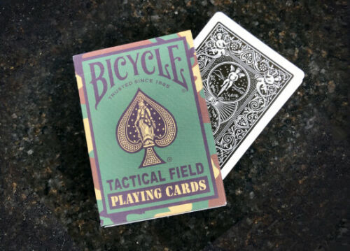 1 Sealed Deck Bicycle Tactical Field Jungle Green Camo Playing Cards