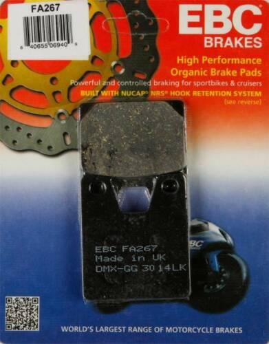 Rear 1998-2001 Yamaha YZF-R1 Street EBC Organic Brake Pads