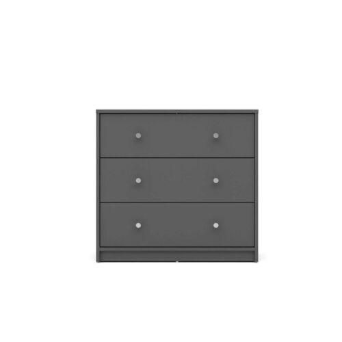 Maria Kommode 3 Schubladen grau Sideboard Highboard Schrank Flur Diele