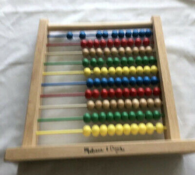 Melissa and Doug Abacus Wood Educational Counting Toy ...