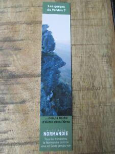 Marque page collector -Les gorges du Verdon(Normandie)