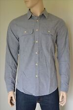 NEW Abercrombie & Fitch Chamois Military Brushed Flannel Shirt Grey M