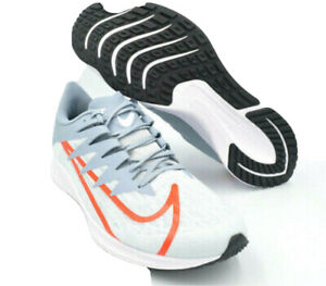 NIKE ZOOM RIVAL FLY ( PURE PLATINUM/BRIGHT CRIMSON ) SHOES SIZE 13 CD7288 002