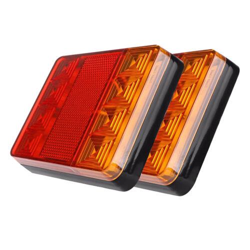 12V 8LED Rear Tail Light Car Truck Trailer Brake Stop ReverseTurn IndicatorLampK