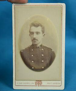 Image Is Loading 1890s CDV Soldier In Uniform Carte De Visite