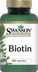 BIOTIN - 5 MG - 100 Capsules - HEALTHY HAIR, SKIN & NAILS 87614018775