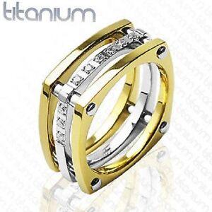MENS-SOLID-TITANIUM-RING-GOLD-CZ-DETAIL-ENGAGEMENT-J3