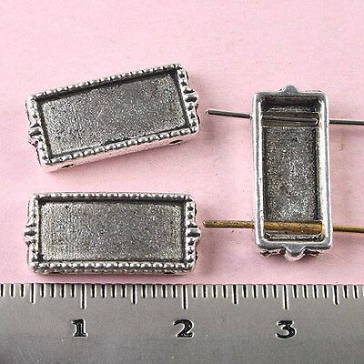 15pcs Tibetan silver cuboid connector charms find h1562