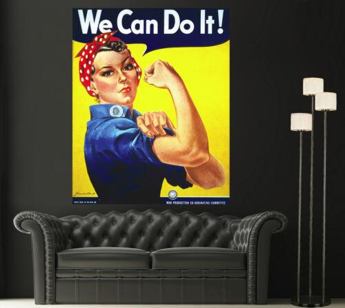 Rosie the Riveter Canvas Giclee Print Photo Prints Decor WWII Magazine Ad 1