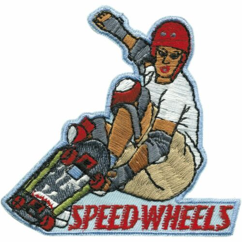 04988 Aufnäher Patch Applikation Wappen ☆ Skater 8,5 x 8,5 cm ☆ SPEED WHEELS ☆