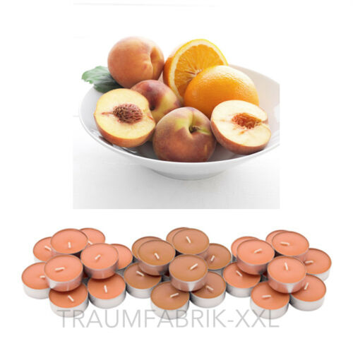 IKEA SINNLIG 30 Teelichter Duft Teelicht duftend Aprikose und Orange Duftkerzen