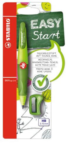Stabilo Easyergo Einsteiger Bleistift mit Extra Dickes Kabel Schärfer R /& L