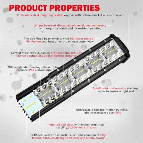 104cm LED Lichtbalken Arbeitsscheinwerfer Lightbar 42 Zoll Combo Für Ford Ranger