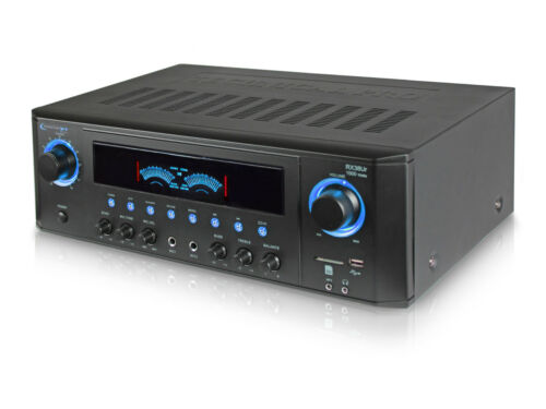 DJ PROFESSIONAL 1000W HOME AUDIO STEREO RECEIVER 2 CH POWER AMP AMPLIFIER USB//SD