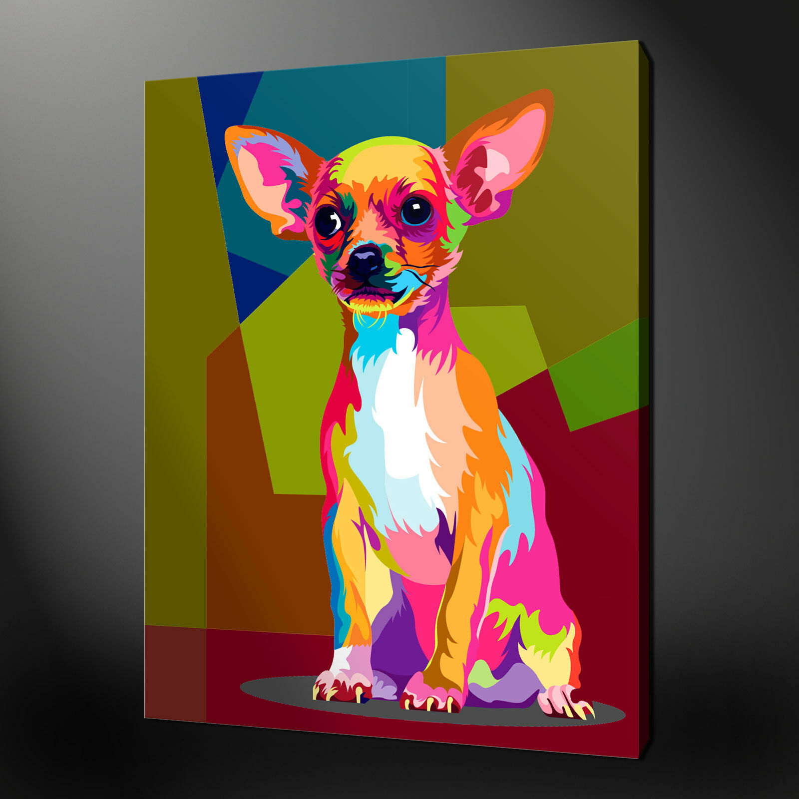 ANIMALS CANVAS PRINT PICTURE WALL ART COLLECTION POP ART ART ART FREE FAST DELIVERY 8c6f90