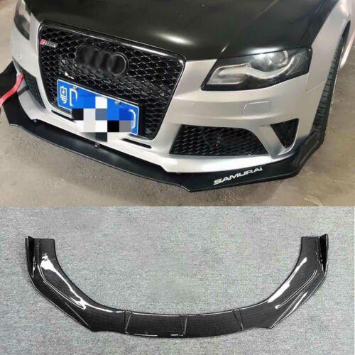 For 2009-2012 Audi A4 Sport Carbon Fiber Front Bumper Lip Body Kit Spoiler