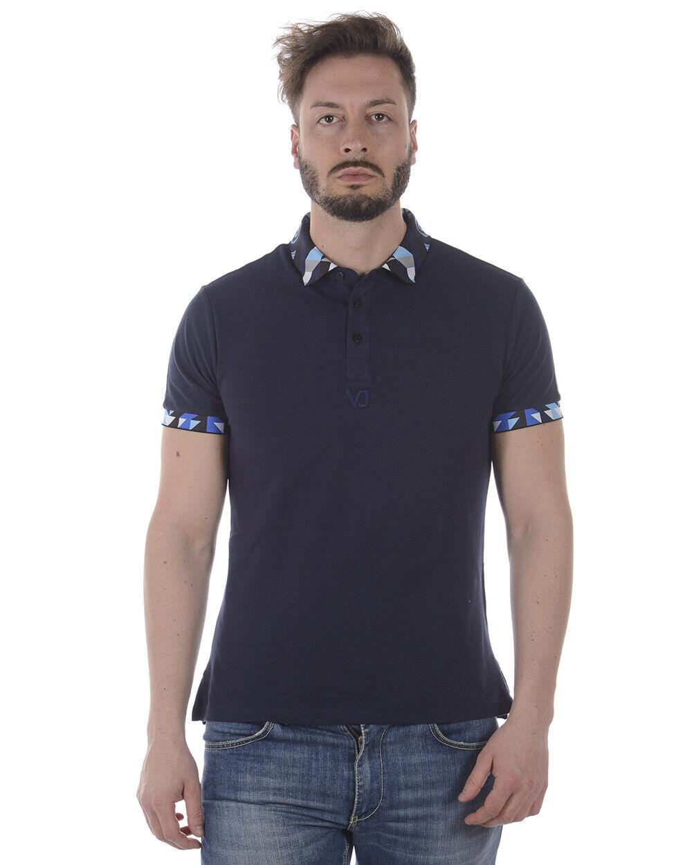 Polo Versace Jeans Shirt SLIM Cotone Uomo Blu B3GRA7PB 231