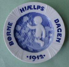 ROYAL COPENHAGEN Porcelain Antique 1912 CHILDREN DAY PLATE Boy Rocking Horse