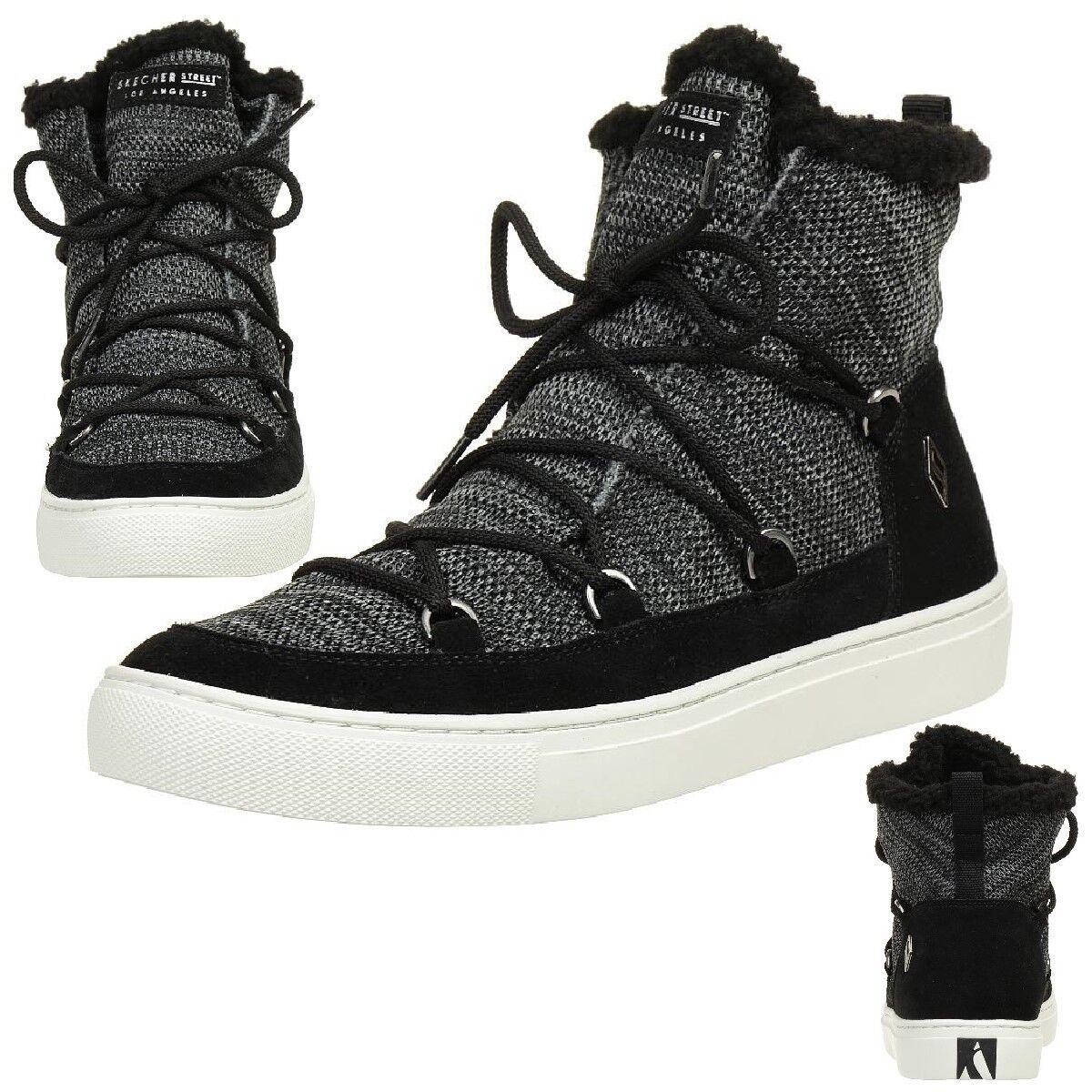 Skechers Side Street Street Street Cálido Wrappers botas botas de Invierno Mujer Forrado Blk  gran selección y entrega rápida