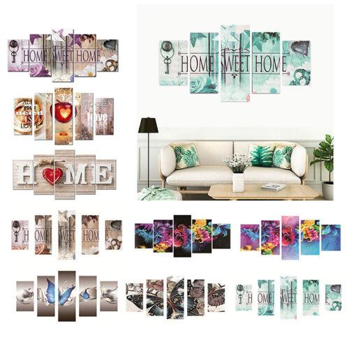 5pcs//Set 5D DIY Diamond Painting Home Cross Crafts Stitch Kits Art Decor 95*45