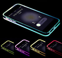 Light Up Flash Bumper Frame Case Cover Skin For Apple iPhone 6 6s UK Remind Call