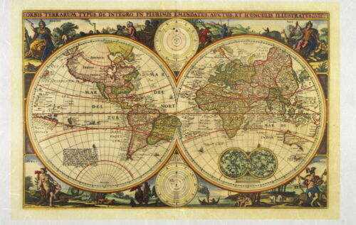 Papel De Arroz Para Decoupage Decopatch Scrapbook Craft Hoja de Mapa del viejo mundo