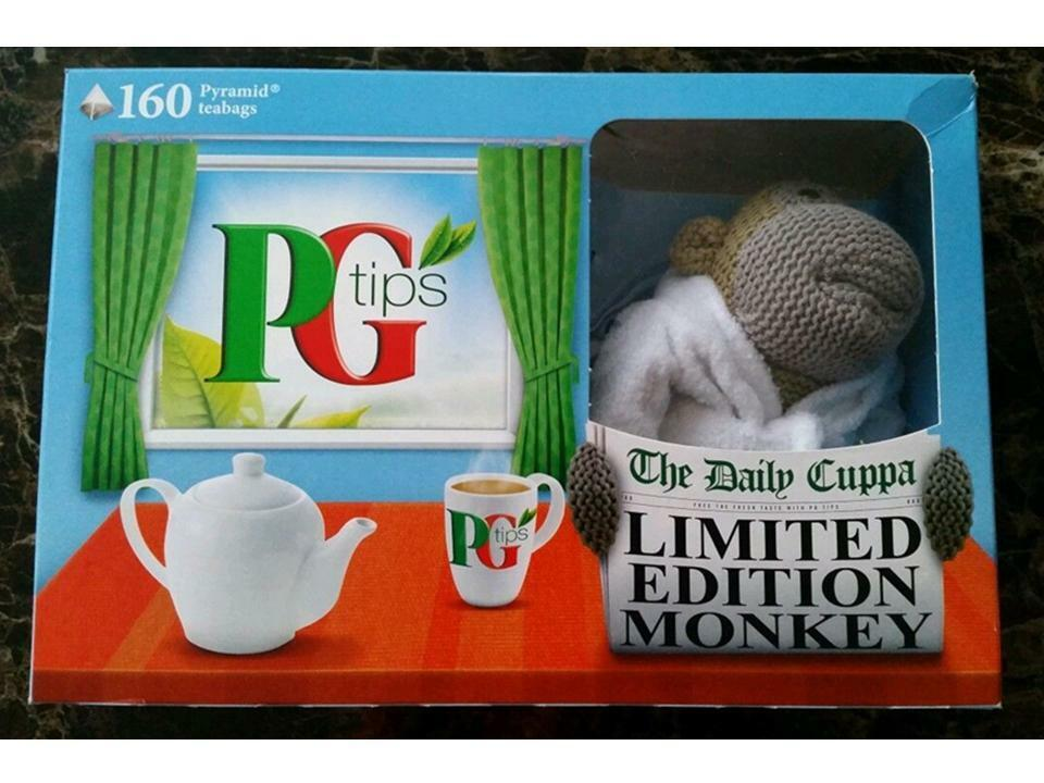 PG Tips Limited Edition Monkey in Dressing Gown 2014 - No tea bags