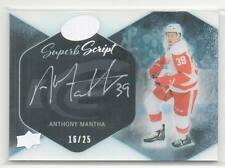 2016-17 Upper Deck Ice Superb Script SS-MA Anthony Mantha RC On Card Auto 16/25