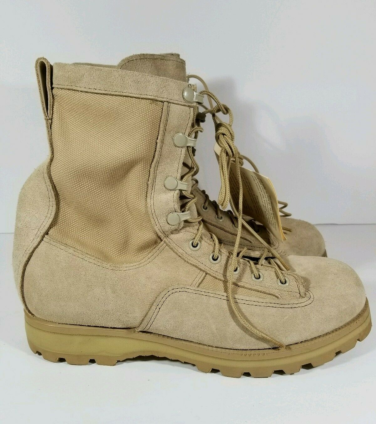 New McRAE Temperate Weather Army Desert Combat Boots Vibram Mens Size 9.5 W