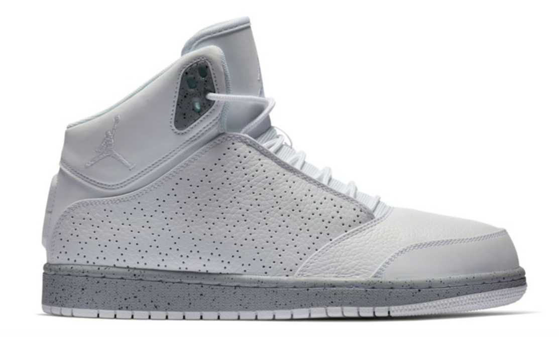 Jordan 1 Flight 5 Premium White Grey Mid Basketball shoes 881434-121 Mens 11.5