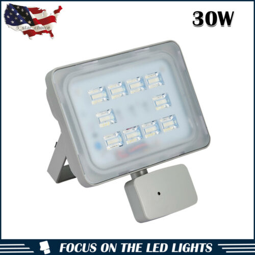 1 X 30W LED Flood Light PIR Motion Sensor Spot Outdoor Security Lamp Cool White
