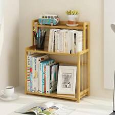 Bamboo Book Shelves Kitchen Storage Multi Use Desk Book Shelf Simple Handy????