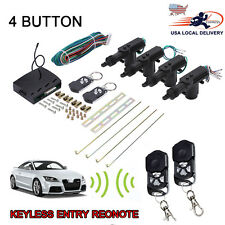Universal 4 Door Remote Control Car Central Lock Locking Keyless Entry System US
