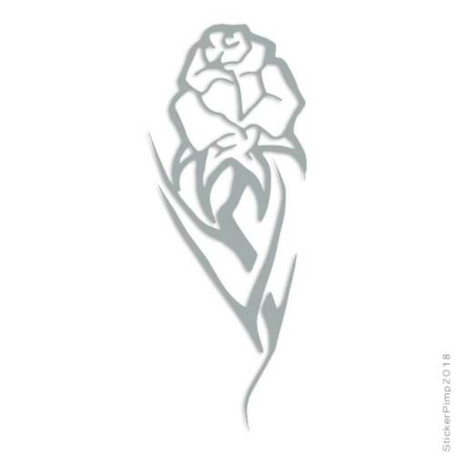 Size #585 Rose Tribal Decal Sticker Choose Color