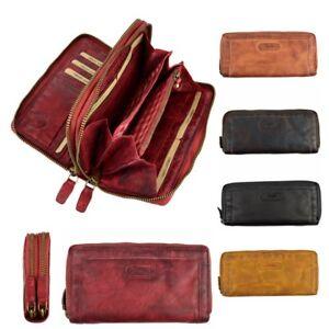 304981004144a Portemonnaie Geldbörse Damen elegantes Muster A1125 beige braun Geldbörsen    Etuis