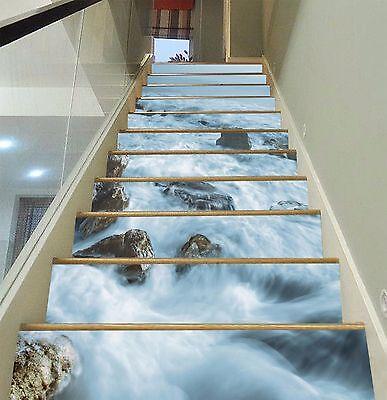 Details about  /3D Indus Leaves 021 Stair Risers Decoration Photo Mural Vinyl Decal Wallpaper AU