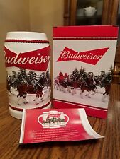 2016 Budweiser Bud Holiday Stein Annual Clydesdale Christmas Beer Busch AB