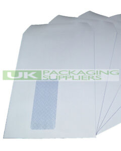 25-A5-C5-SIZE-WHITE-PAPER-SELF-SEAL-ENVELOPES-WINDOW-162-x-229mm-SS-NEW