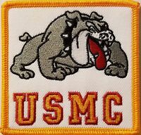 Usmc Emblem Iron-on Patch Devil Dog Emblem Gold Border
