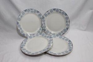 Oneida-Frosty-Blue-Snowflake-Xmas-Dinner-Plates-10-5-034-Set-of-4