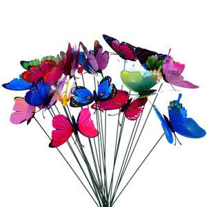 10pcs-Butterflies-Garden-Yard-Planter-Colorful-Outdoor-Decor-Flower-Pots-PL