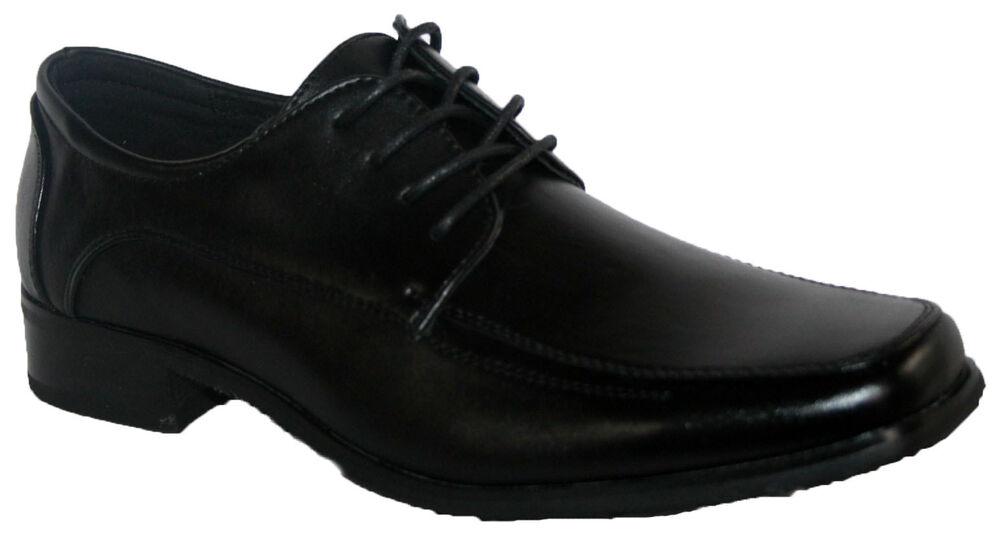 Alerte Homme Noir Lacets Robe Travail Fête École Chaussure En Taille 9 DéLicieux Dans Le GoûT